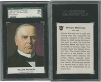 1960 Golden Press W547, Presidents, #24 William McKinley, SGC 96 Mint