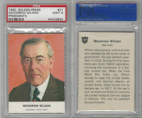 1960 Golden Press W547, Presidents, #27 Woodrow Wilson, PSA 9 Mint