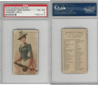 N18 Allen & Ginter, Parasol Drill, 1888, Common Time March, PSA 4 VGEX