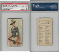 N18 Allen & Ginter, Parasol Drill, 1888, Common Time March, PSA 6 EXMT