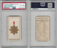 N181 Kimball, Arms of Dominions, 1888, Argentine Rep., PSA 6 EXMT