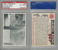 1965 Philadelphia, James Bond-Movies, #57 The U.S. Army Strikes, PSA 8 NMMT