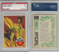 1966 Philadelphia Gum, Tarzan, #17 Fiery Finish?, PSA 5 EX