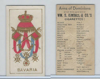 N181 Kimball, Arms of Dominions, 1888, Bavaria