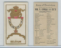 N181 Kimball, Arms of Dominions, 1888, Belgium