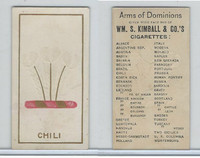 N181 Kimball, Arms of Dominions, 1888, Chili