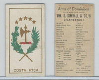 N181 Kimball, Arms of Dominions, 1888, Costa Rica