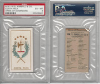 N181 Kimball, Arms of Dominions, 1888, Costa Rica, PSA 6 EXMT