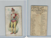 N182 Kimball Cigarettes, Ballet Queens, 1889, Croizette