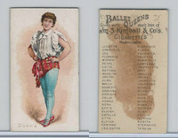 N182 Kimball Cigarettes, Ballet Queens, 1889, Donna
