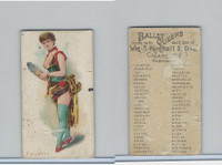 N182 Kimball Cigarettes, Ballet Queens, 1889, Favette