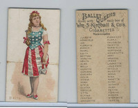 N182 Kimball Cigarettes, Ballet Queens, 1889, Bella, United States