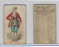 N182 Kimball Cigarettes, Ballet Queens, 1889, Corinth