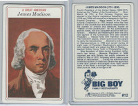 1975 Big Boy Family Restaurants, A Great American, #12 James Madison