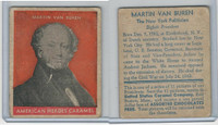 R114 United States Caramel, Presidents, Orange, 1933, #8 Martin Van Buren
