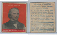 R114 United States Caramel, Presidents, Orange, 1933, #17 Andrew Johnson