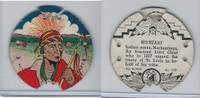 R123 Seal Craft, Seal Craft Discs, 1930's, #109 No-Heart, Iowa Indian Chief
