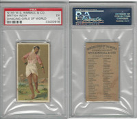 N185 Kimball, Dancing Girls of the World, 1889, British India, PSA 5 EX