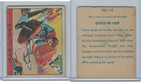 R128-1 Strip Card, Series of 48 - Western, 1933, #14 Early 49'er