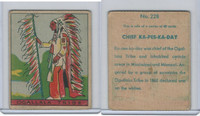 R128-2 Strip Card, Series of 48 - Western, 1933, #228 Ogallala Tribe
