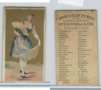 N185 Kimball, Dancing Girls of the World, 1889, Germany (Back Separated)
