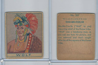 R129 Strip Card, Series of 48 - American History, 1930's, #307 Wolf