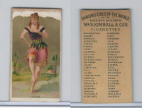 N185 Kimball, Dancing Girls of the World, 1889, Java