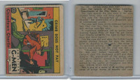 R13 Strip Card, American G-Men, 1930's, #120 Chinatown Charlie (Pin Hole)