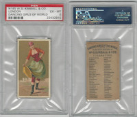 N185 Kimball, Dancing Girls of the World, 1889, London, PSA 6 EXMT