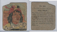 R131 Strip Card, Series of 48 - Western, 1930's, #805 King Phillip
