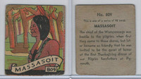 R131 Strip Card, Series of 48 - Western, 1930's, #809 Massasoit