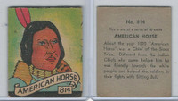 R131 Strip Card, Series of 48 - Western, 1930's, #814 American Horse, Indian