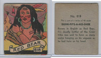 R131 Strip Card, Series of 48 - Western, 1930's, #818 Red Bear