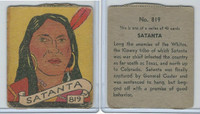 R131 Strip Card, Series of 48 - Western, 1930's, #819 Satanta