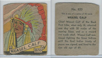R131 Strip Card, Series of 48 - Western, 1930's, #820 Weasel Calf