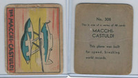 R132 Strip Card, Series of 48 - Aviation, 1938, #308 Macchi-Castuldi Airplane