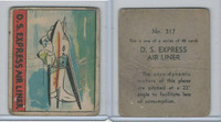 R132 Strip Card, Series of 48 - Aviation, 1938, #317 DS Express Air Liner