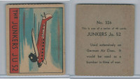 R132 Strip Card, Series of 48 - Aviation, 1938, #326 Junkers Je 52 Airplane