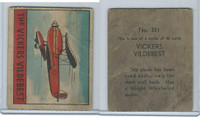 R132 Strip Card, Series of 48 - Aviation, 1938, #331 Vickers Vildebest