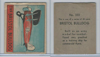 R132 Strip Card, Series of 48 - Aviation, 1938, #333 Bristol Bulldog Airplane