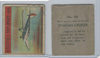 R132 Strip Card, Series of 48 - Aviation, 1938, #346 Spartan Cruiser