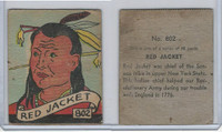 R131 Strip Card, Series of 48 - Western, 1930's, #802 Red Jacket