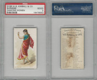 N186 Kimball, Dancing Women, 1889, Burmese, PSA 2 Good