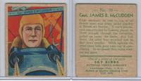 R136 National Chicle, Sky Birds Series 144, 1933, #38 Capt. James McCudden