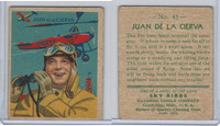 R136 National Chicle, Sky Birds Series 144, 1933, #43 Juan De La Cierva