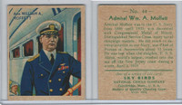 R136 National Chicle, Sky Birds Series 144, 1933, #44 Admiral W.0 Moffett