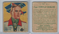 R136 National Chicle, Sky Birds Series 144, 1933, #46 Capt. Oswald Boelcke
