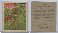 R139 E. Rosen, Soldier Cards, 1932, #18 United States Army