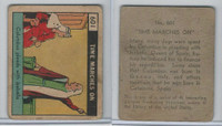 R150 Strip Card, Time Marches On, 1930's, #601 Columbus Pleads Isabella