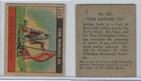 R150 Strip Card, Time Marches On, 1930's, #602 Columbus America